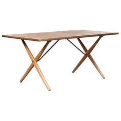 Hans J. Wegner cross-leg table AT303 for Andreas Tuck, Denmark, 1966