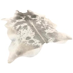 Gray and White Cow Hide Rug