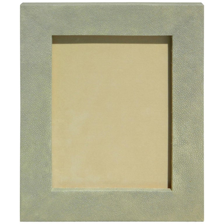 Beautiful Sage Shagreen Picture Frame For Sale