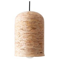 Contemporary Stacked Medium Bell Pendant Light by Richard Haining