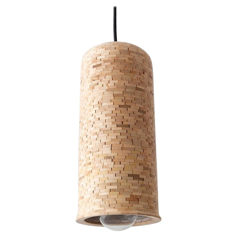STACKED Skinny Bell Pendant, shown in Maple, by Richard Haining, Customizable