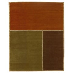 """Delinear """"Aerial"""" Tibetan Hand Knotted Wool and Silk Rug"""