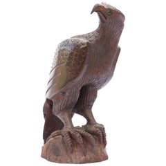 Hand Carved Rosewood Eagle Sculpture