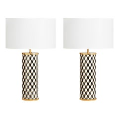 Carnaby Black and Grey Porcelain Table Lamp