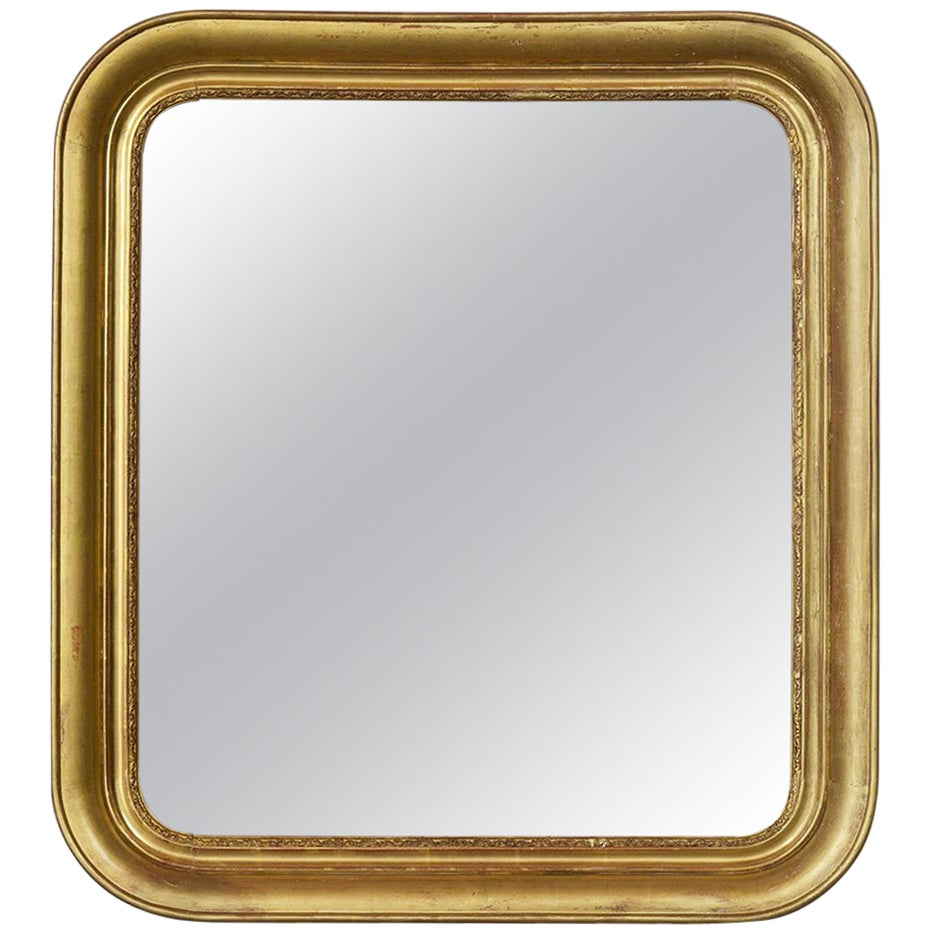 French 19th Century Louis Philippe Style Giltwood Mirror