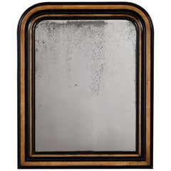 Circa 1880s French Black and Walnut Colored Mirror