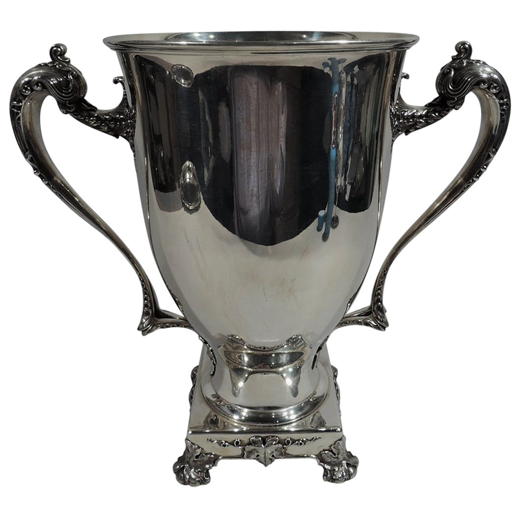 Large American Sterling Silver Amphora Trophy Cup by Whiting