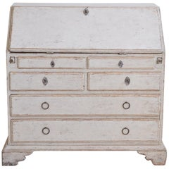Late 18th Century Swedish Painted Bureau