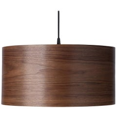 CANNEA Custom Walnut Wood Drum Chandelier Pendant