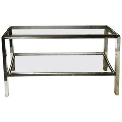 Signed Willy Rizzo Two-Tier Console