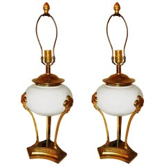 Pair of Neoclassical Table Lamps by Chapman