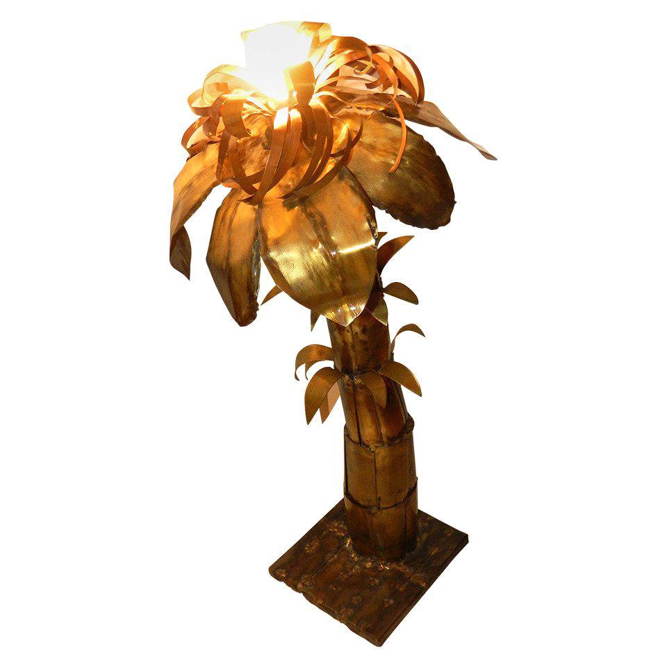 Palm Tree Lamp Attributed to Maison Jansen