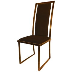 Set of 10 Nickel Polished Mangematin Chairs