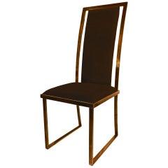 Set of 10 Nickel Polished Mangematin Chairs