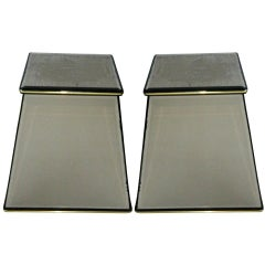 Pair of Italian Mirrored Pedestals