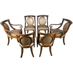 Classic Set of 6 Regency Dining Chairs by Bethlehem Furniture