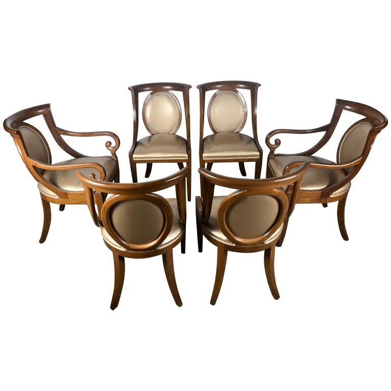 Classic Set Of 6 Regency Dining Chairs By Bethlehem