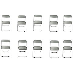 "Signed Set of 12 ""PLIA"" Chairs by Giancarlo Piretti for Castelli"