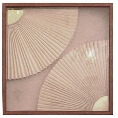 Greg Copeland Layered Encased Paper Sculpture Mid-Century Modern Wall Art 1977