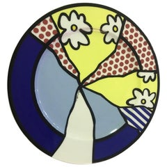 Roy Lichtenstein Limited Edition Signed and Numbered Water Lilies Plate 1990