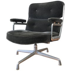 Herman Miller Time Life Chair by Charles and Ray Eames in Charcoal Mohair