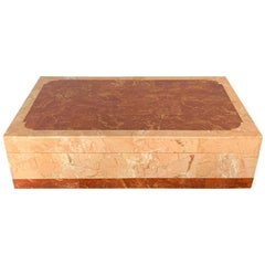 Pink Tessellated Stone Jewelry Box