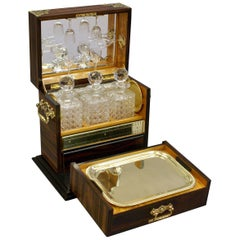 Superb 19th Century Coromandel Decanter and Games Compendium