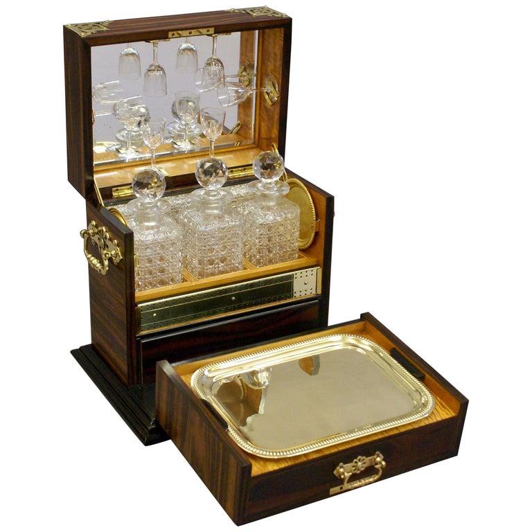 Superb 19th Century Coromandel Decanter and Games Compendium