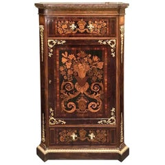 19th Century French Napoleon III Credenza in Rosewood, Palisander and Walnut