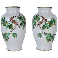 Fine pair Japanese Cloisonne vases, 19th Century
