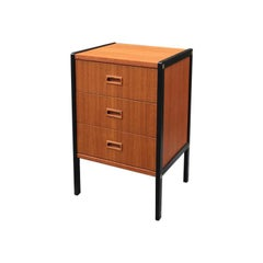 Midcentury Swedish Black Teak Chest of Drawers by Bertil Fridhagen for Bodafors