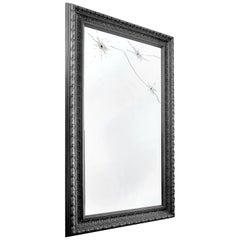 Wall Mirror Classic Rectangular Black Italian Limited Edition Design
