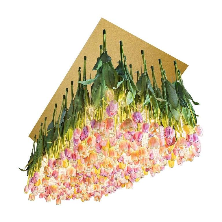 Flower Power Tulip Chandelier For Sale