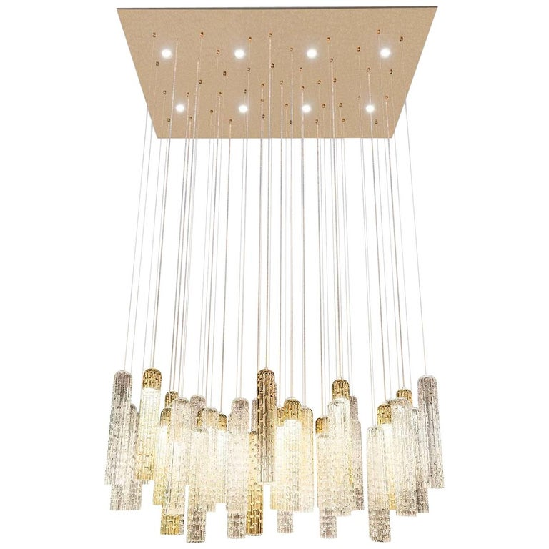 New Pipe Chandelier For Sale