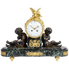 Louis XVI Style Marble and Ormolu Mantel Clock, 19th Century