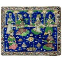 Qajar Polychrome Tile