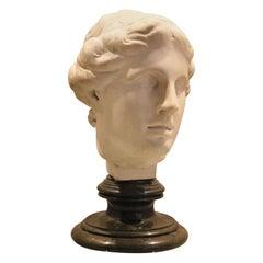 19th Century Italian Bust Carrara Marble