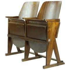 Two-Seat Cinema Bench by Ton 'Thonet', Czechoslovakia circa 1960s