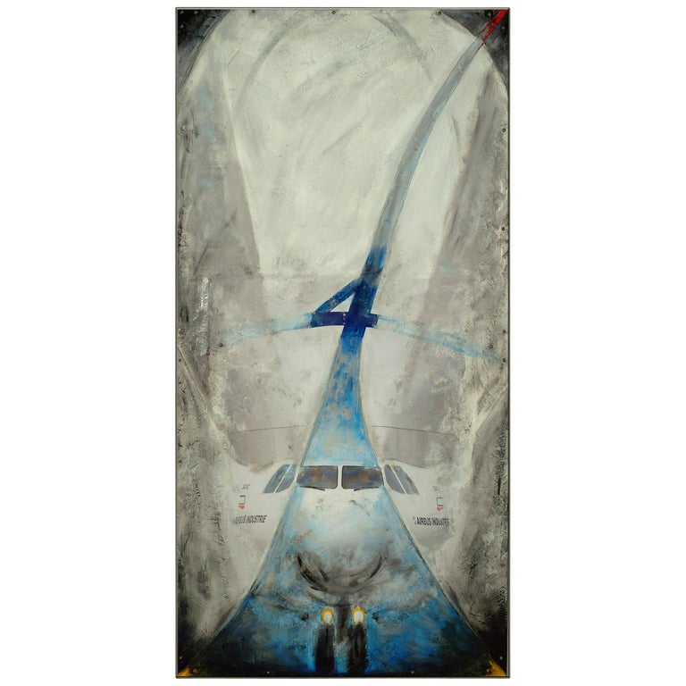 Airbus, Beluga Mixed Technical Board on Aluminum by Philippe Gajic For Sale