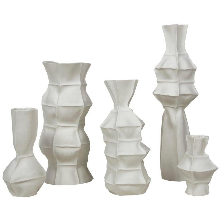 Luft Tanaka for Souda set of five Kawa vases, New