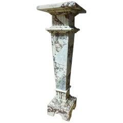 19th Century Peach Blossom Marble Pedestal