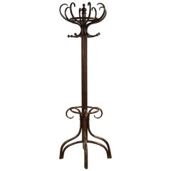 Beechwood Bentwood Thonet Style Hall Stand with Revolving Top Section