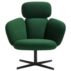 Artifort Green Bras High Back Swivel Lounge Chair Designed by Khodi Feiz