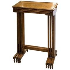 Regency Rosewood Set of Quartetto Tables of Simple but Elegant Design circa 1820
