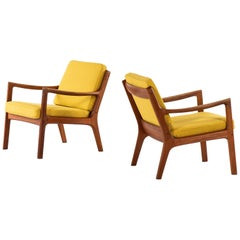 Ole Wanscher Easy Chairs Model Senator Produced by France & Son in Denmark