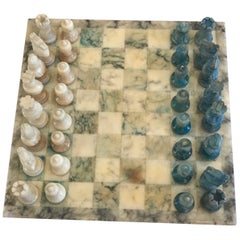 1950s Italian Marble Two-Colors Chess Board