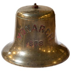 Bronze Ships Bell from HMS Monarch Dated, 1878
