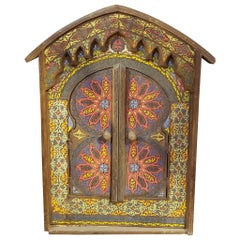 Moroccan Zouak Repurposed Wooden Frame, Mirror Extra