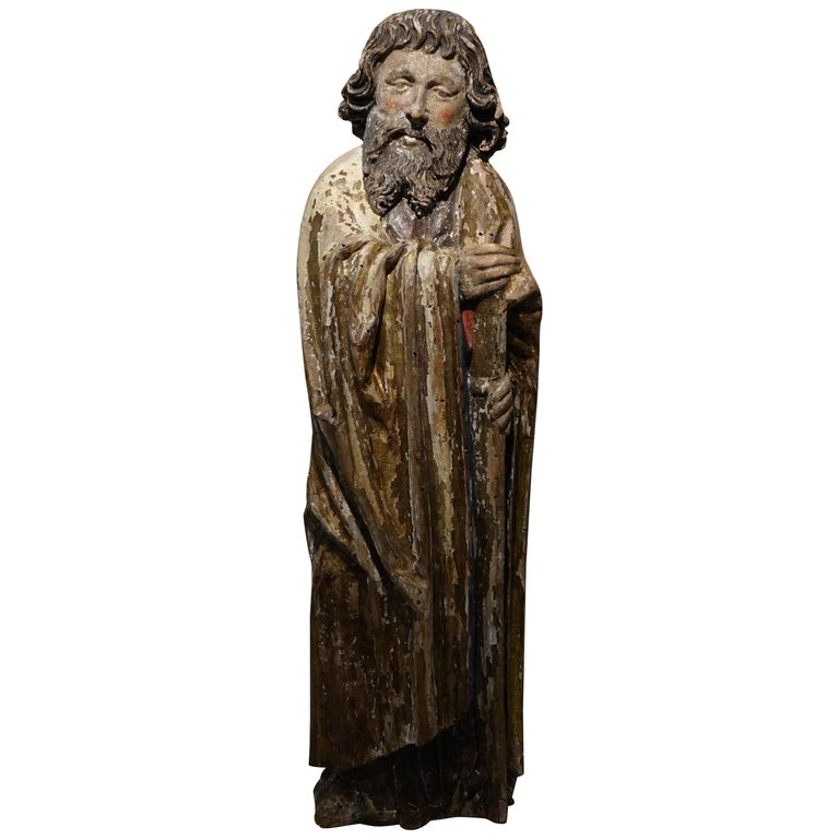 Sculpture of Saint Jacques the Minor, Burgundy, France, 15th Century For Sale