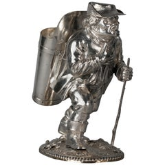 Continental Silver Novelty Figure of a Sojourner, circa 1880
